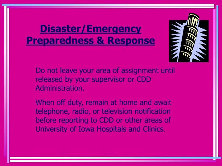 Disaster/Emergency