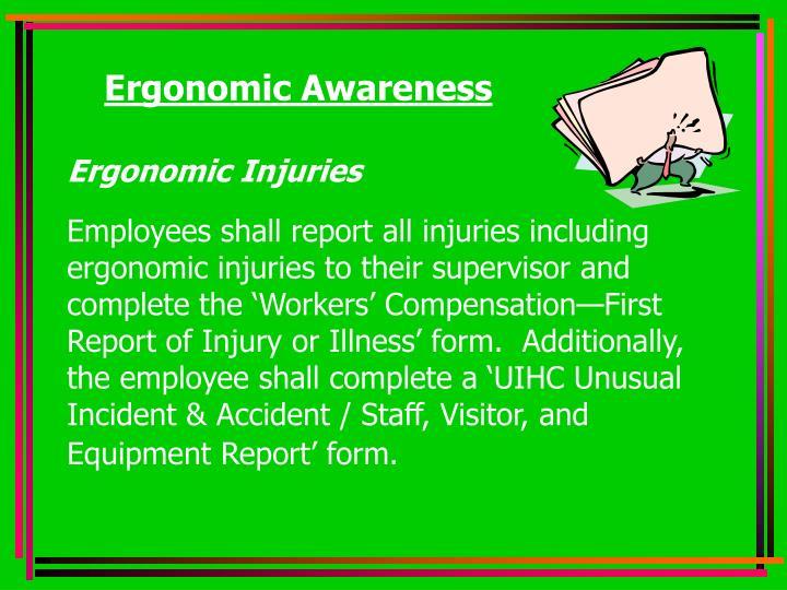 Ergonomic Awareness