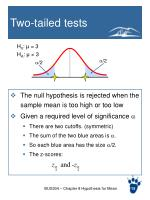 two tailed tests