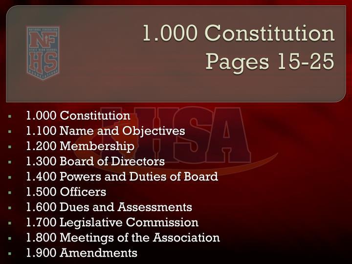 1.000 Constitution