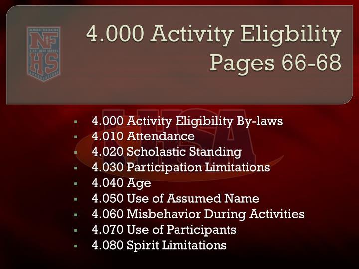 4.000 Activity