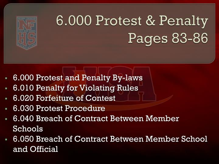 6.000 Protest & Penalty