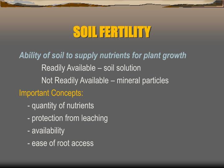 Soil fertility1