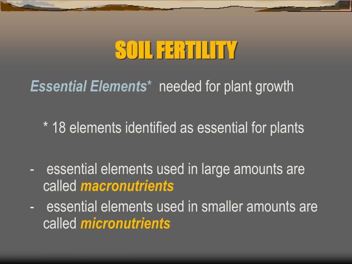 Soil fertility2