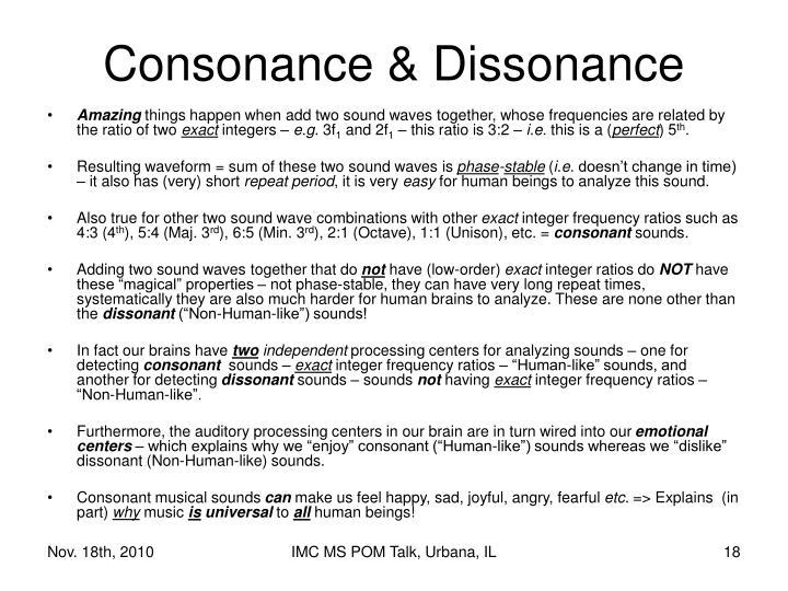 Consonance & Dissonance