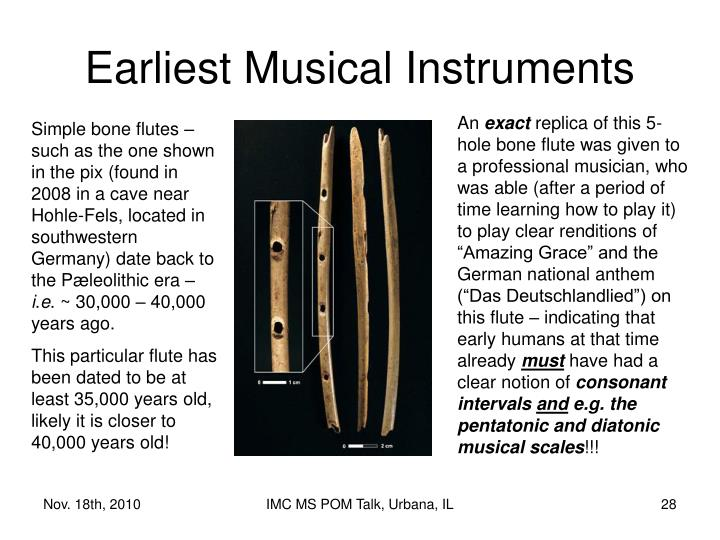 Earliest Musical Instruments