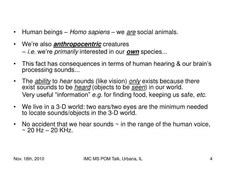 Human beings –