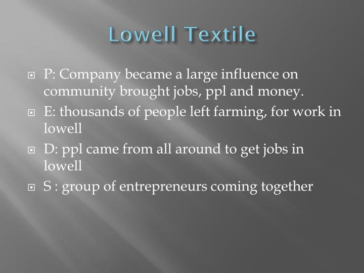 Lowell Textile