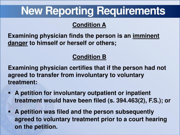 New Reporting Requirements