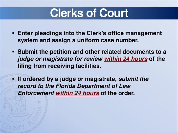 Clerks of Court