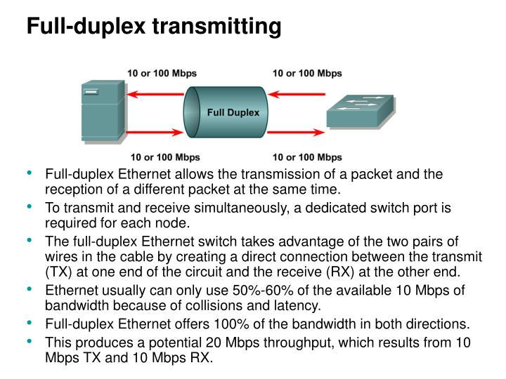 Full-duplex transmitting