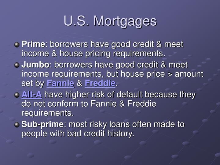 U.S. Mortgages