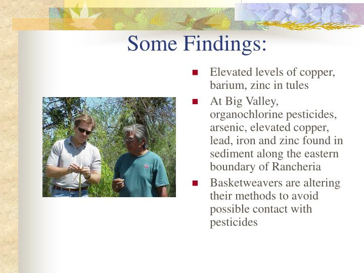 Some findings
