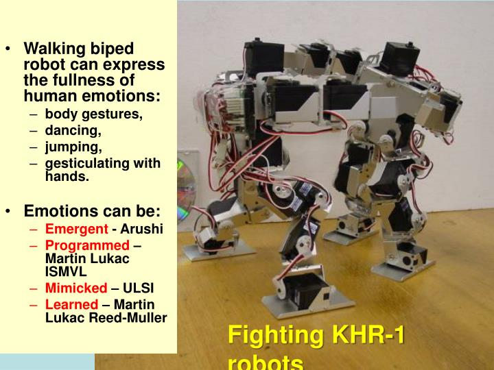 Walking biped robot can express the fullness of human emotions: