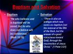 baptism and salvation