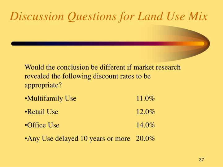 Discussion Questions for Land Use Mix