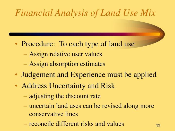Financial Analysis of Land Use Mix