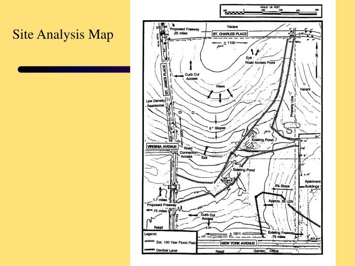 Site Analysis Map