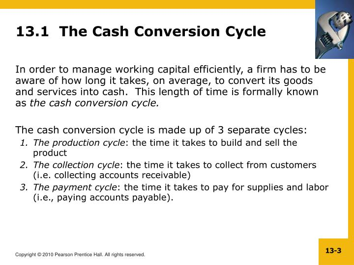 13 1 the cash conversion cycle