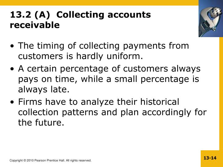 13.2 (A)  Collecting accounts receivable
