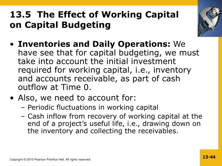 13.5  The Effect of Working Capital on Capital Budgeting