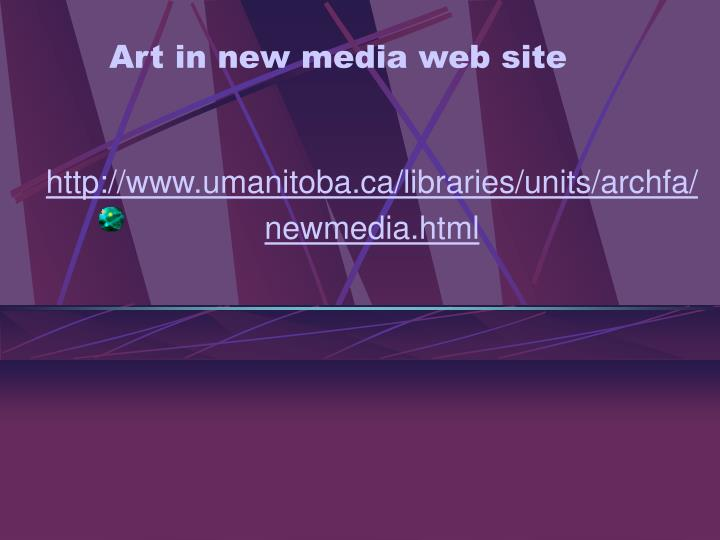 Art in new media web site