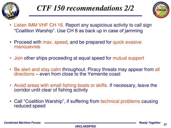 CTF 150 recommendations 2/2