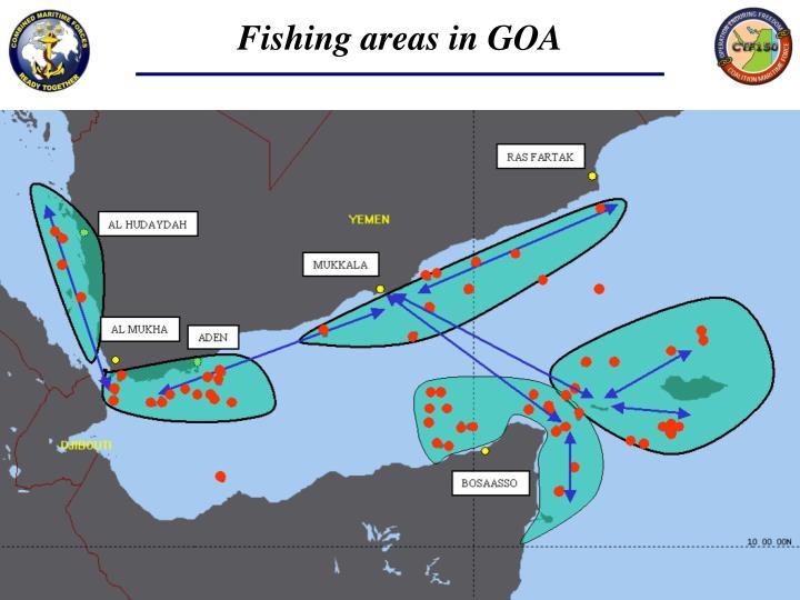 Fishing areas in GOA