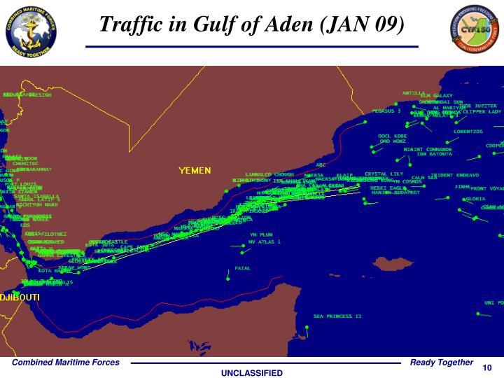 Traffic in Gulf of Aden (JAN 09)