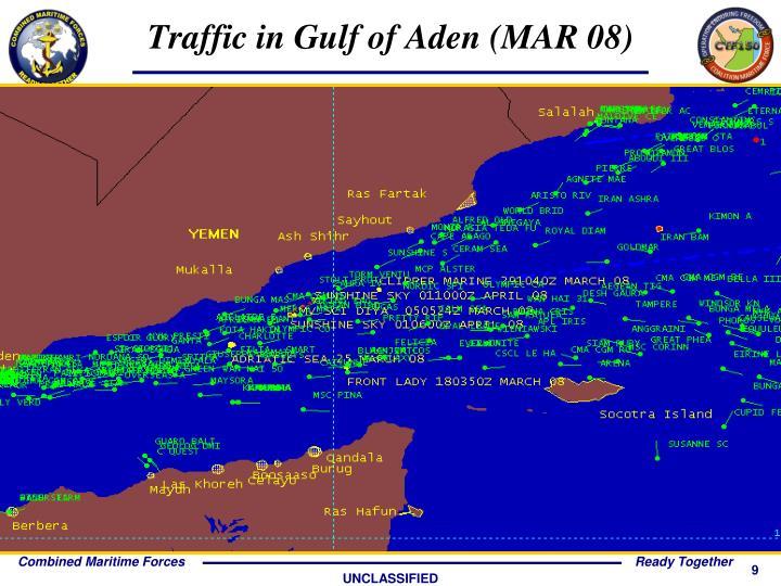 Traffic in Gulf of Aden (MAR 08)