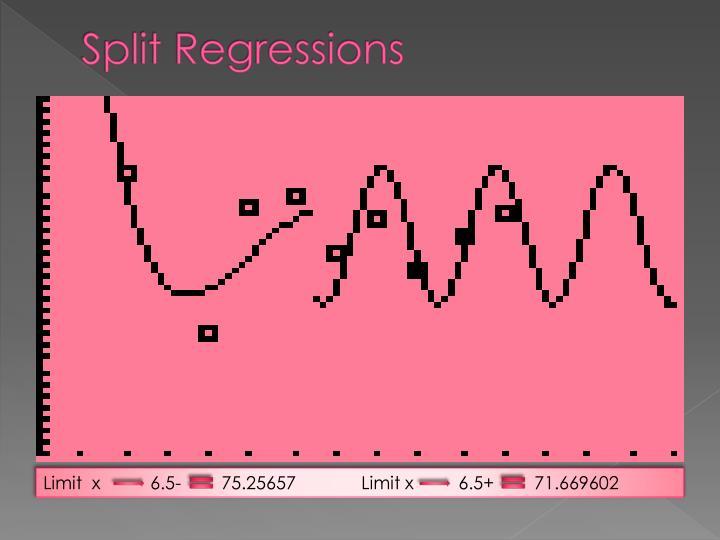 Split Regressions