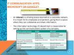 it communication apps microsoft or google