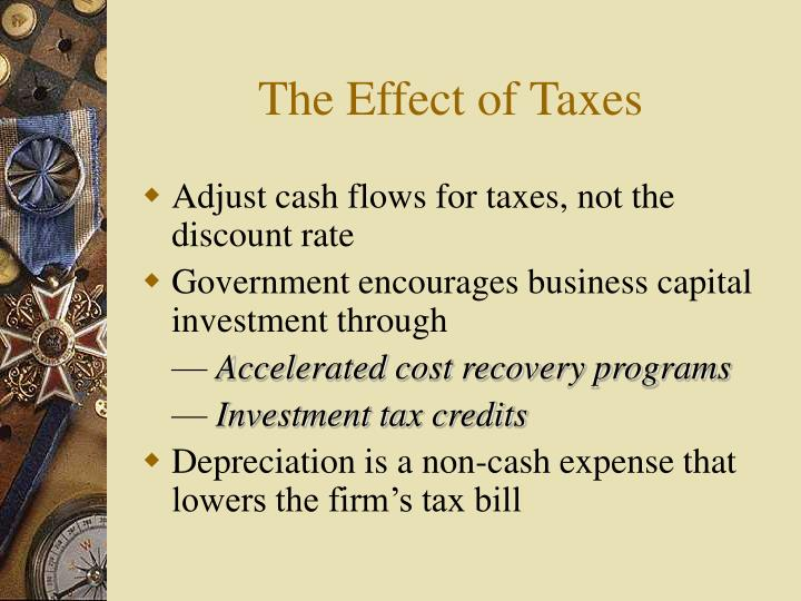 The Effect of Taxes