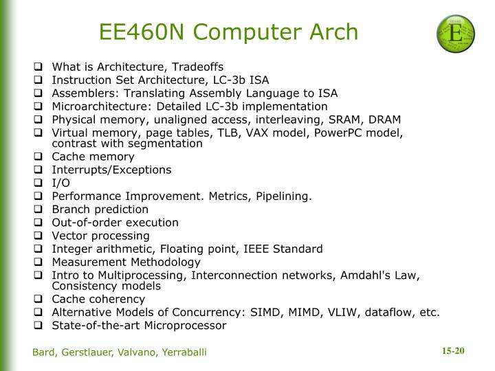 EE460N Computer Arch