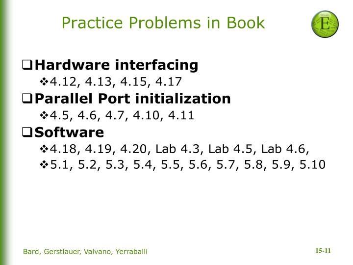 Practice Problems in Book