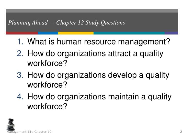Planning ahead chapter 12 study questions