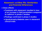 atazanavir vs other pis similarities and potential differences