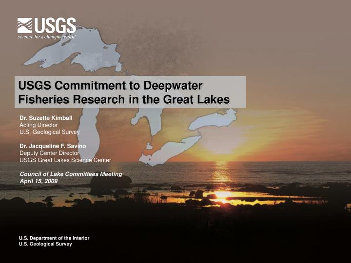USGS Commitment to Deepwater