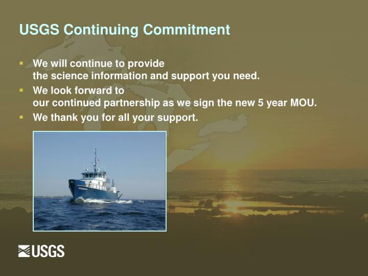 USGS Continuing Commitment