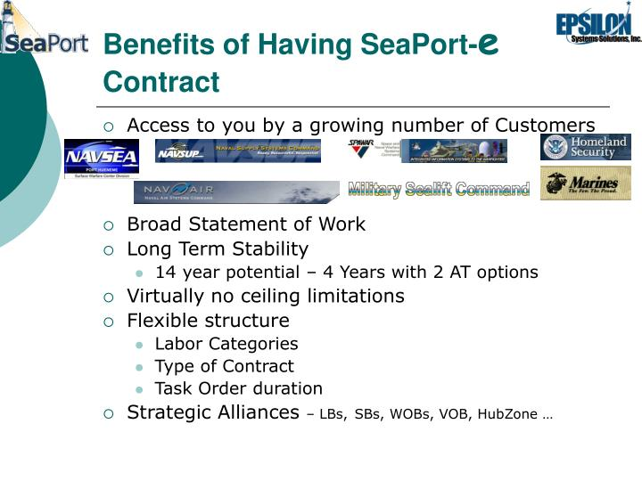 Benefits of Having SeaPort-