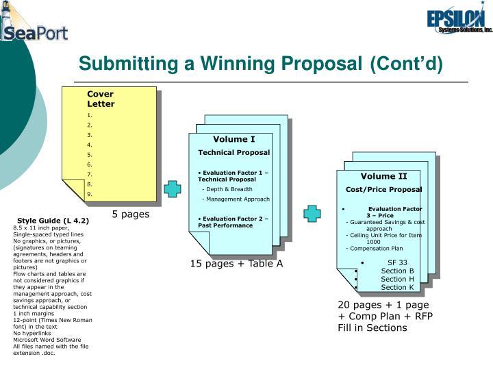 Submitting a Winning Proposal