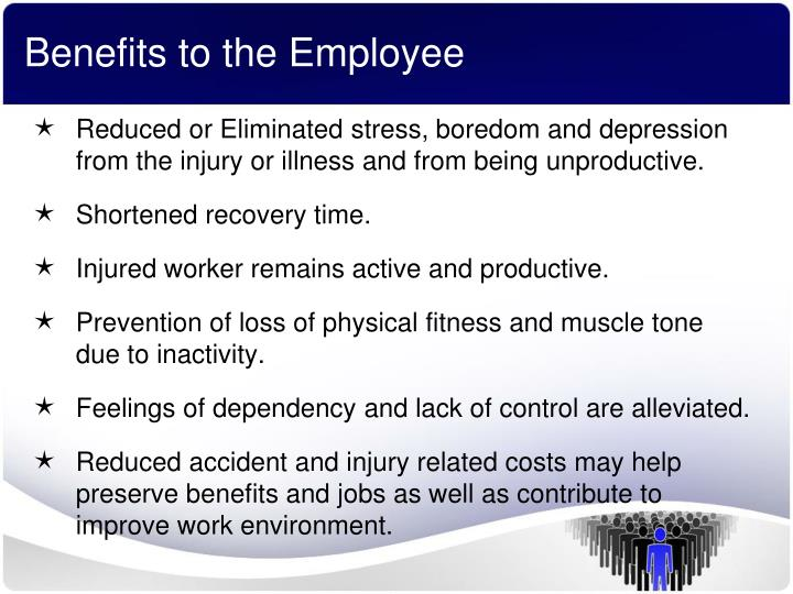 Benefits to the Employee
