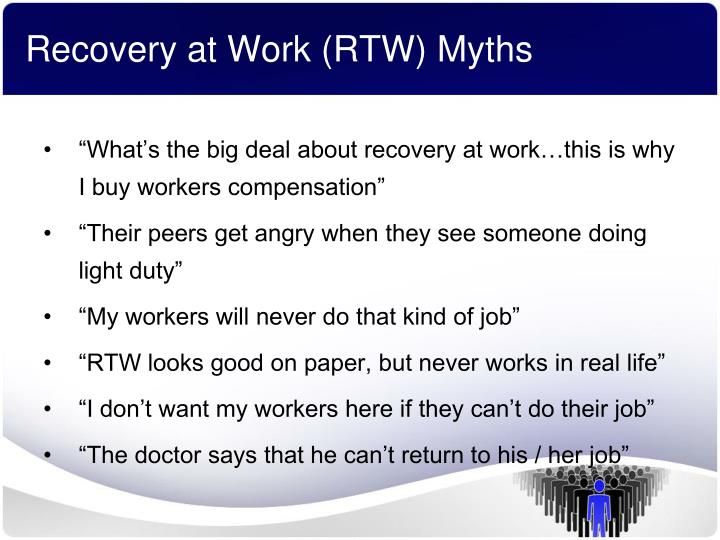 Recovery at Work (RTW) Myths