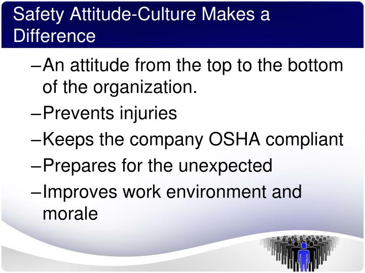 Safety Attitude-Culture Makes a Difference