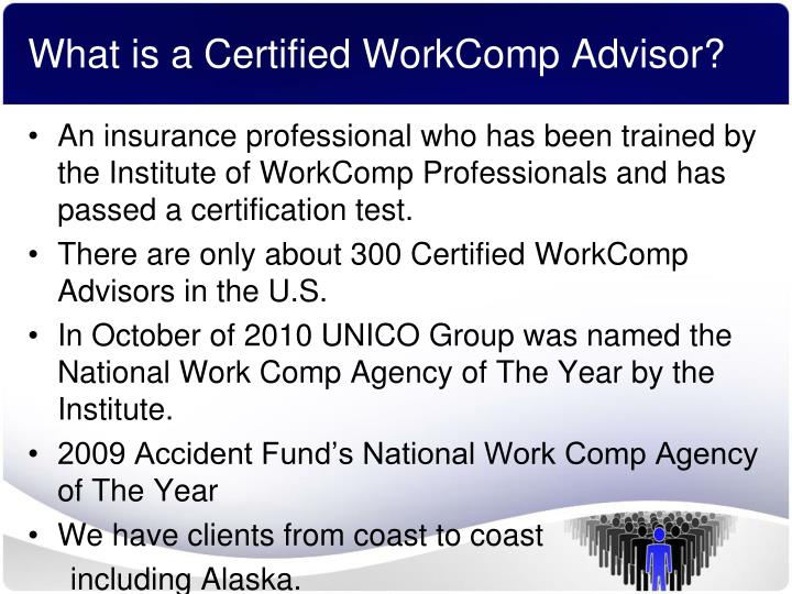 What is a certified workcomp advisor