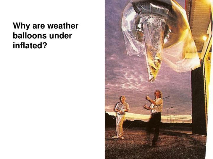 Why are weather balloons under inflated?