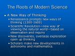 the roots of modern science1
