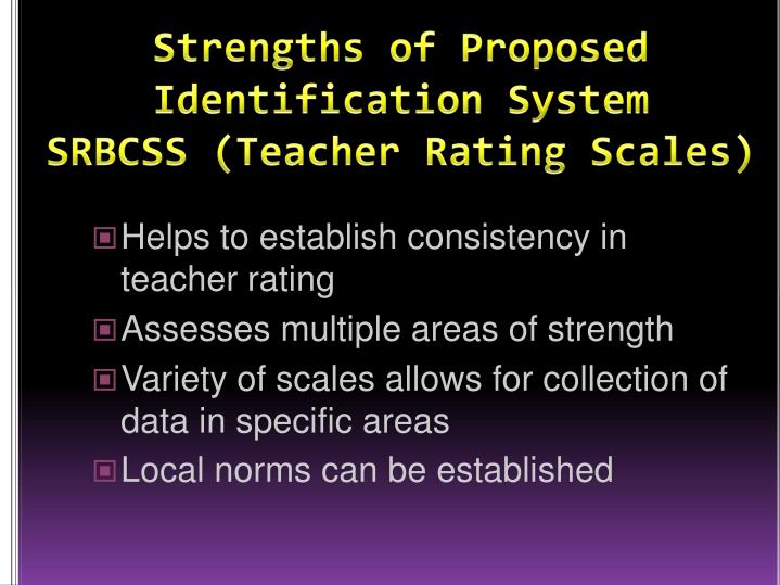 Strengths of Proposed Identification System