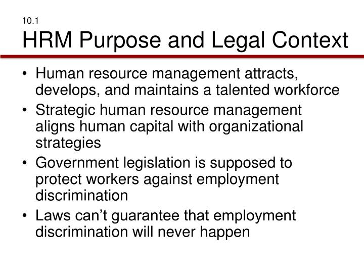 10 1 hrm purpose and legal context
