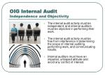 oig internal audit independence and objectivity